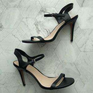 Charles David Black Leather Stiletto Heels, sz 10